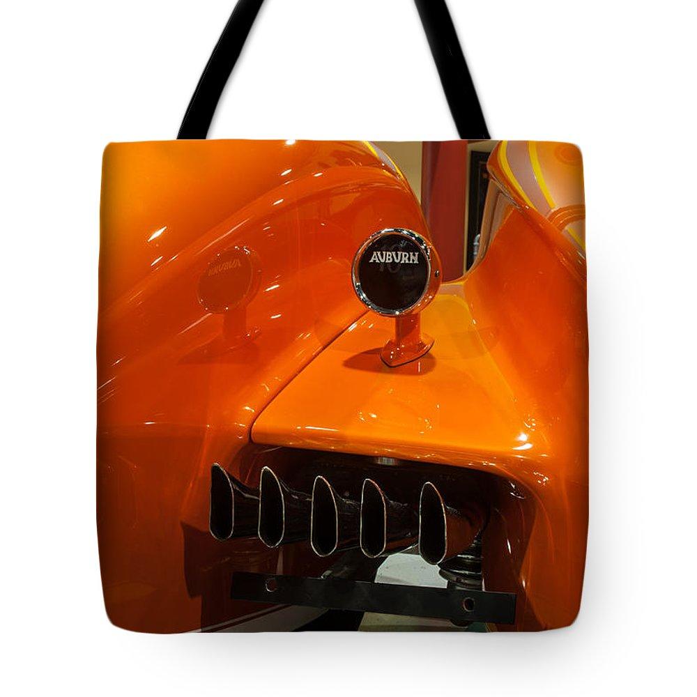 Auburn Rear End Tote Bag featuring the photograph Auburn Rear End by George Buxbaum