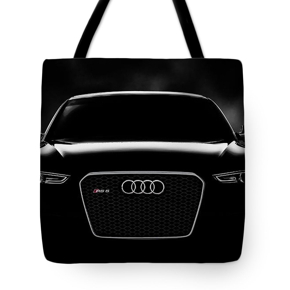 Audi Tote Bag featuring the digital art Audi Rs5 by Douglas Pittman