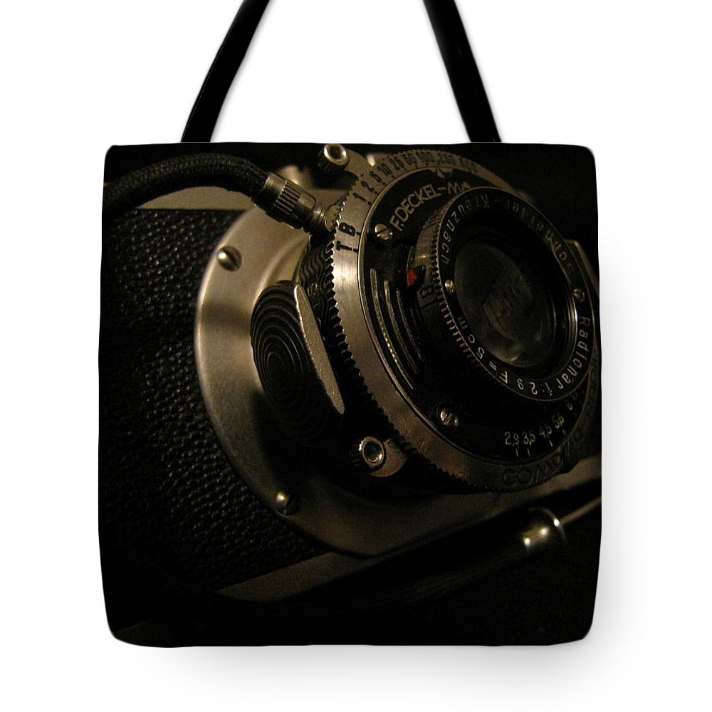 Camera Tote Bag featuring the photograph Auntie's Camera by Beth Vincent