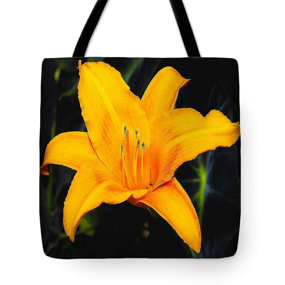 Aurelian Lily Tote Bag featuring the photograph Aurelian Lily by Ingrid Smith-Johnsen