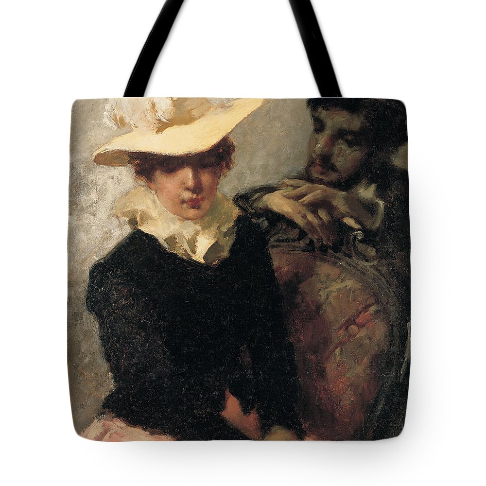 Female Tote Bag featuring the painting Aurora by Gaetano Previati