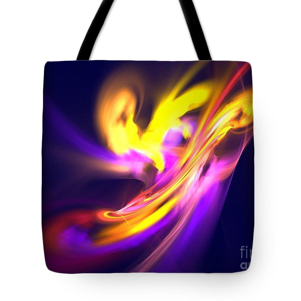 Apophysis Tote Bag featuring the digital art Aurora by Kim Sy Ok