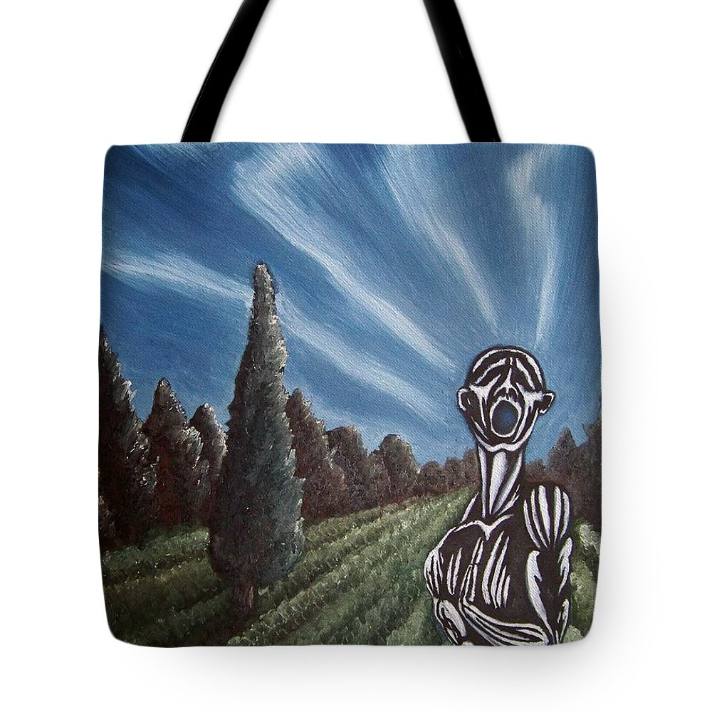 Tmad Tote Bag featuring the painting Aurora by Michael TMAD Finney