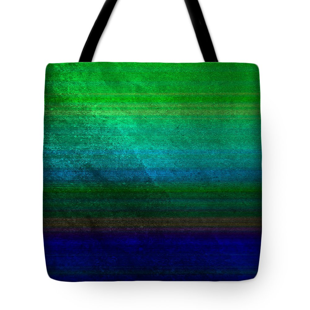 Abstract Tote Bag featuring the digital art Aurora by Peter Tellone