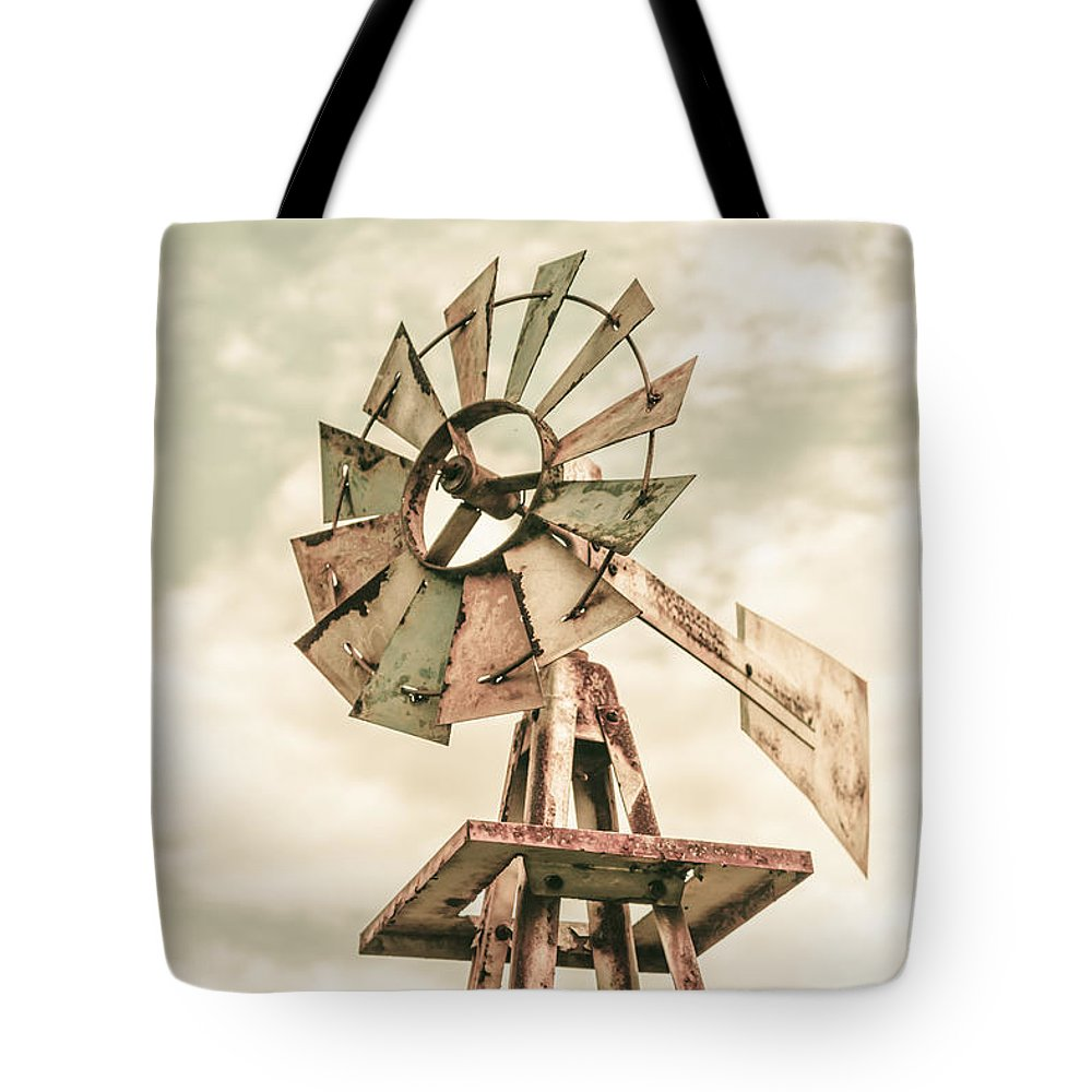Outback Tote Bag featuring the photograph Australian Aermotor Windmill by Jorgo Photography - Wall Art Gallery