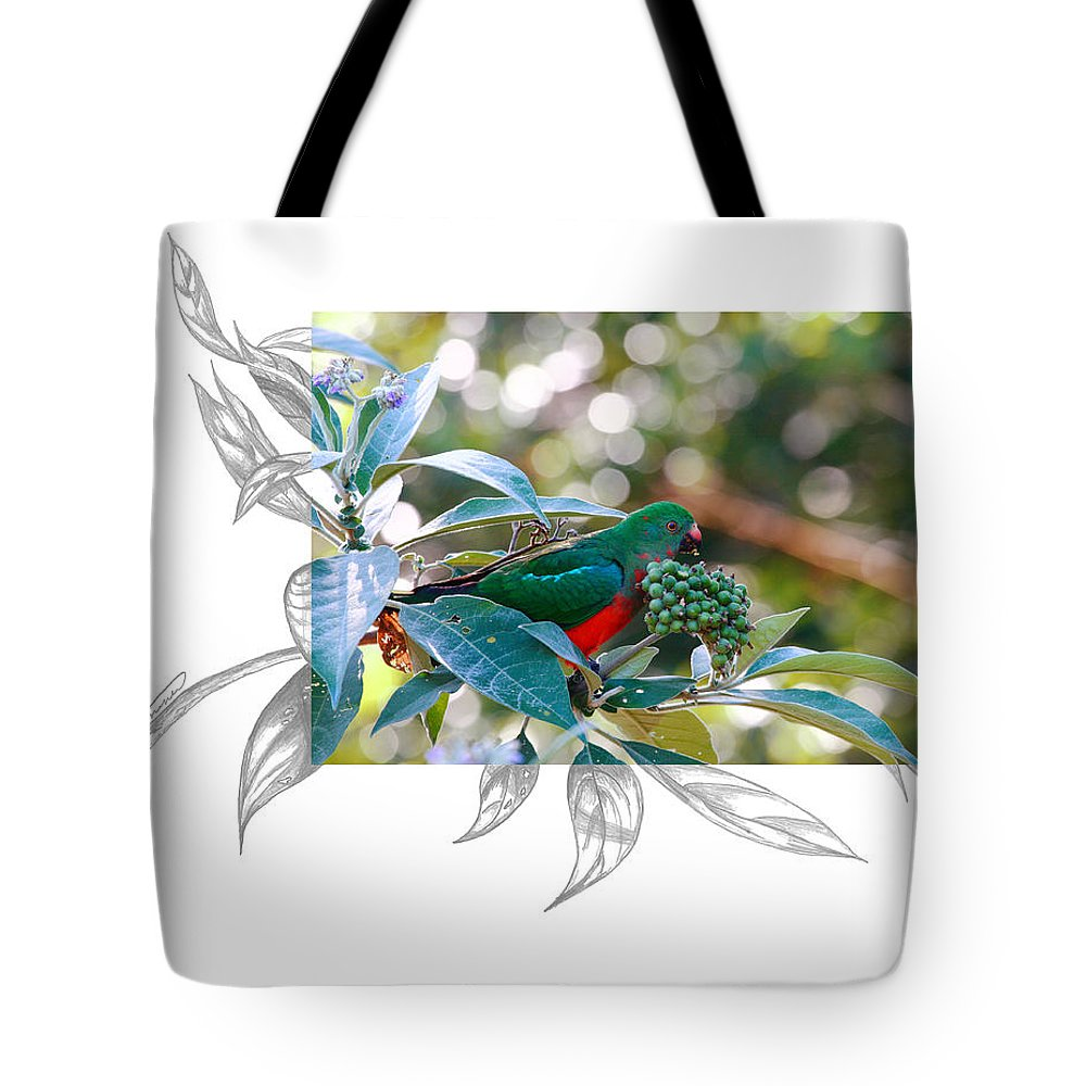 Australian King Parrot Tote Bag featuring the photograph Australian King Parrot by Andrew McInnes