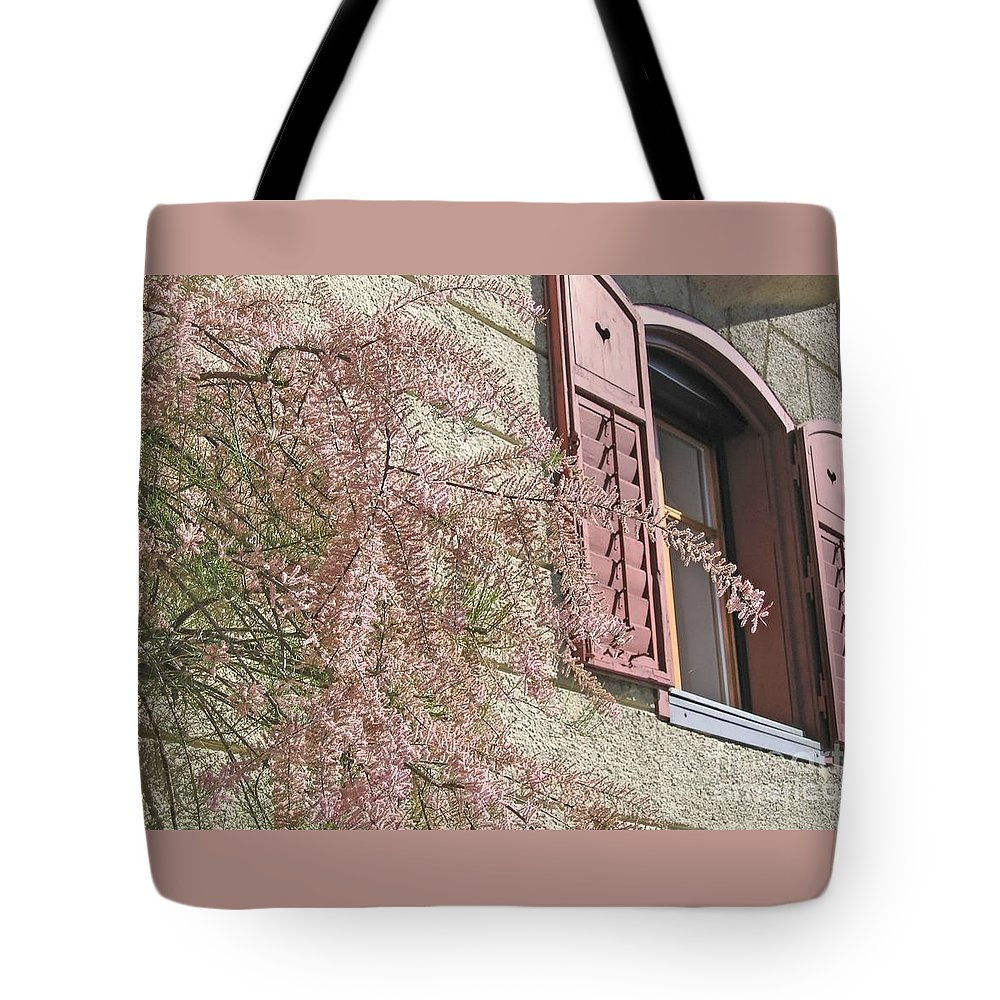 Pink Tote Bag featuring the photograph Austrian Spring by Ann Horn