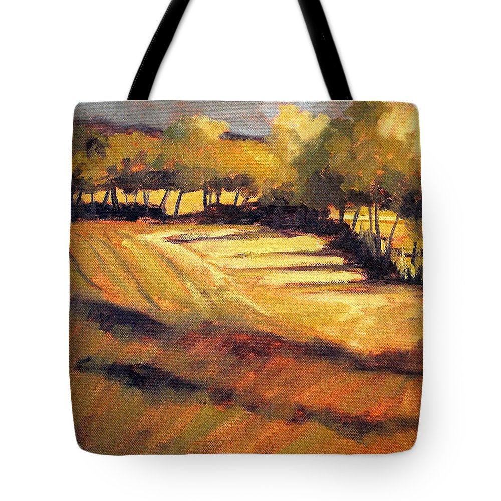 Autumn Tote Bag featuring the painting Autumn Abstract by Nancy Merkle