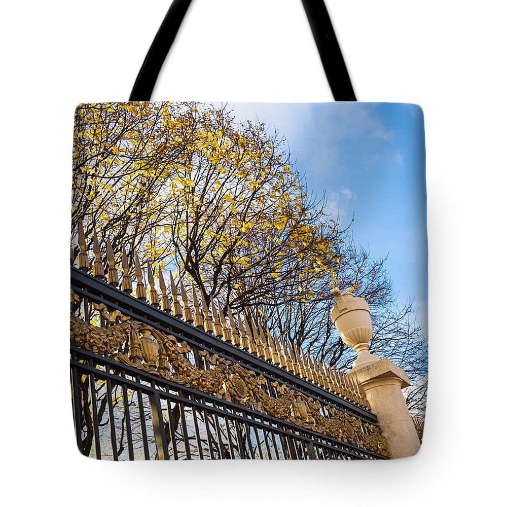 Abstract Tote Bag featuring the photograph Autumn Air-kiss by Alexander Senin