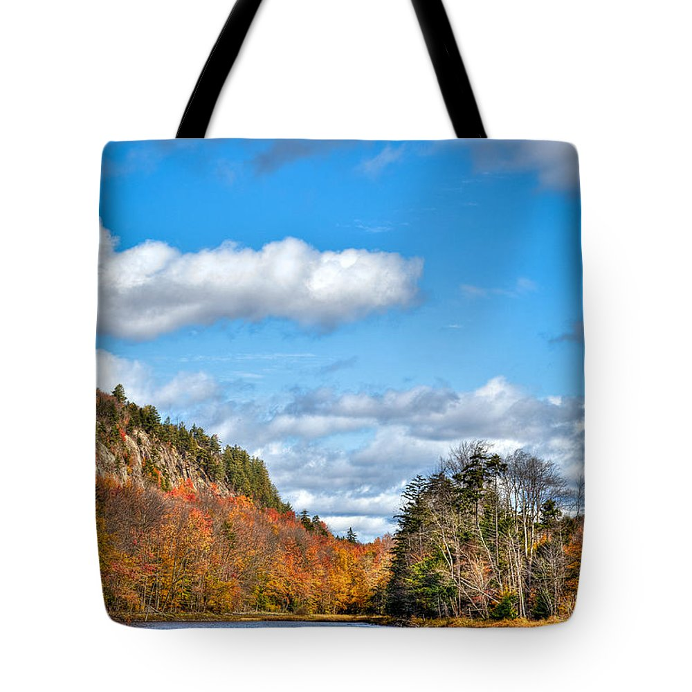 Adirondack's Tote Bag featuring the photograph Autumn At Bald Mountain Pond by David Patterson