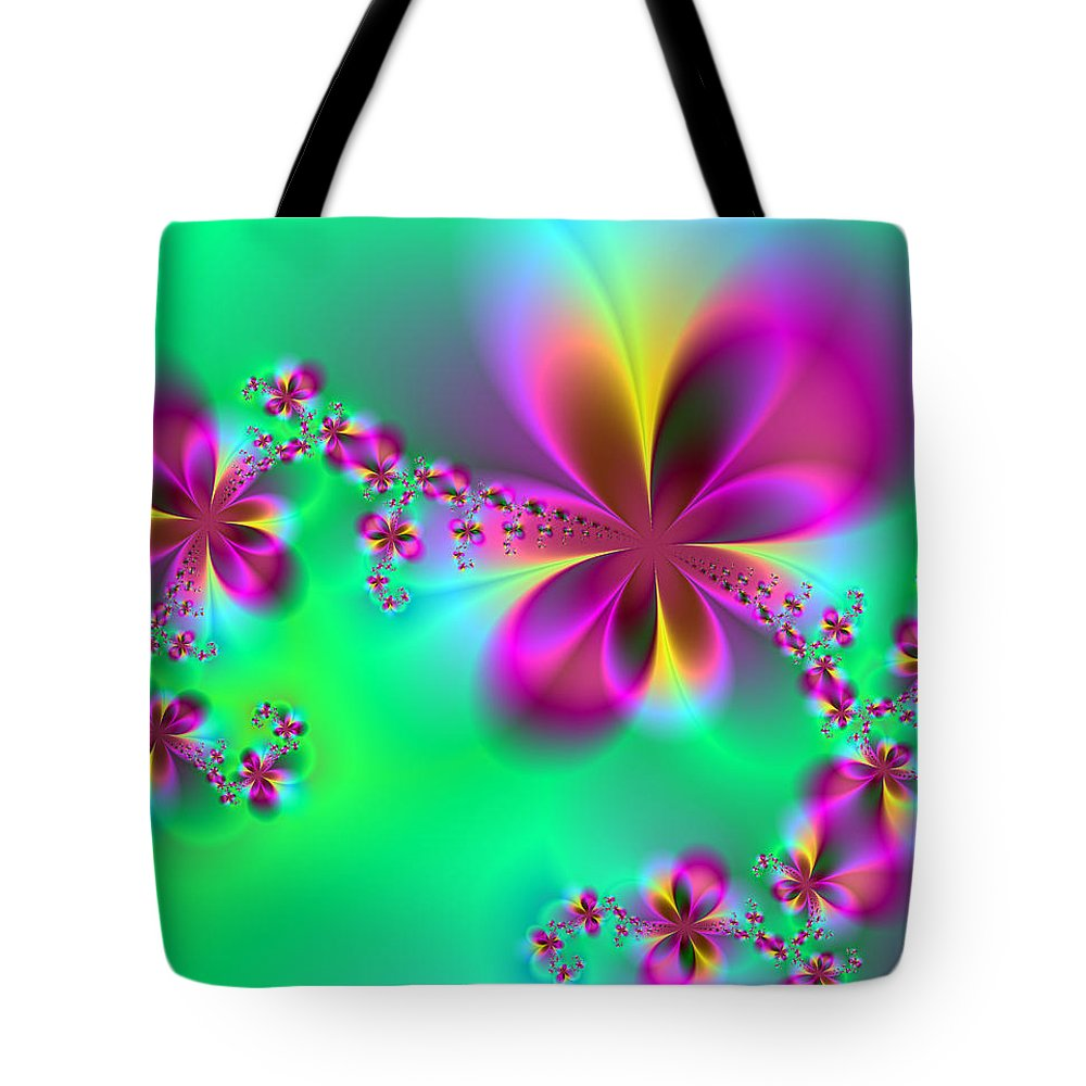 Flora Tote Bag featuring the digital art Autumn Bloom by Ester Rogers