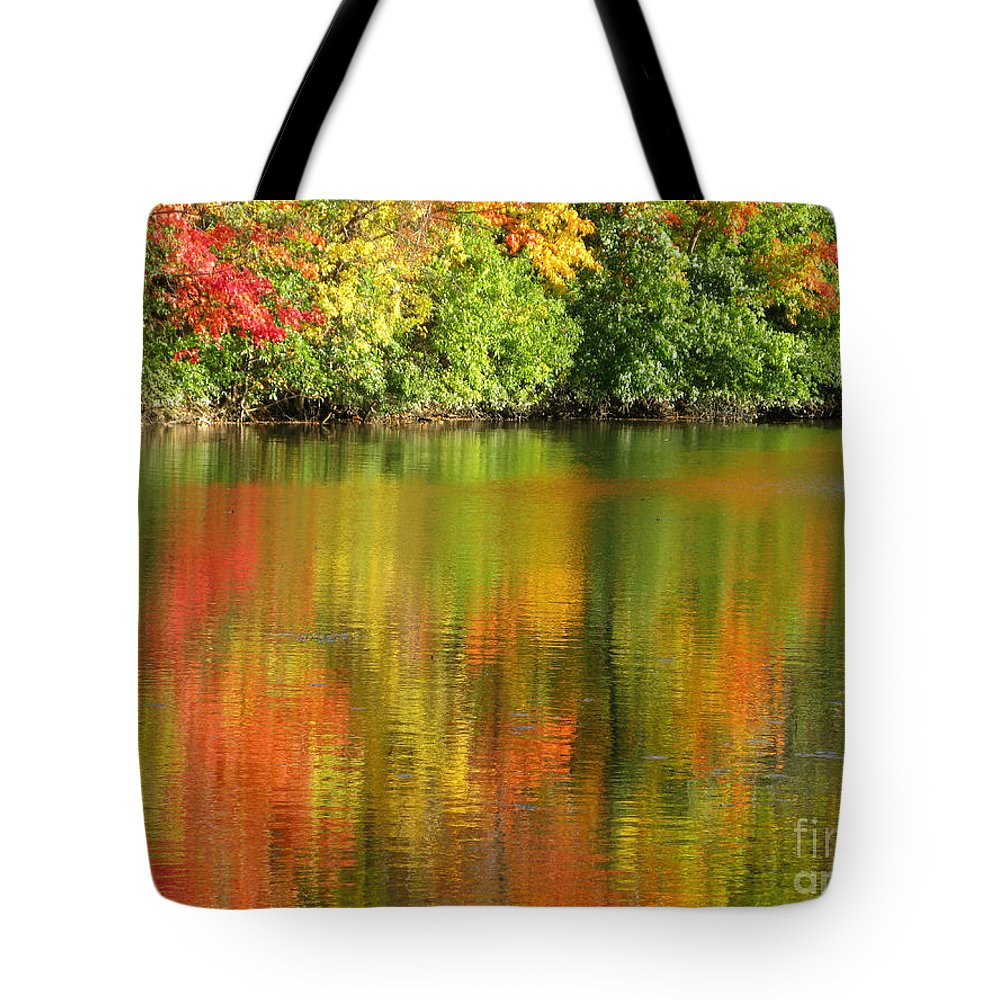 Autumn Tote Bag featuring the photograph Autumn Brilliance by Ann Horn