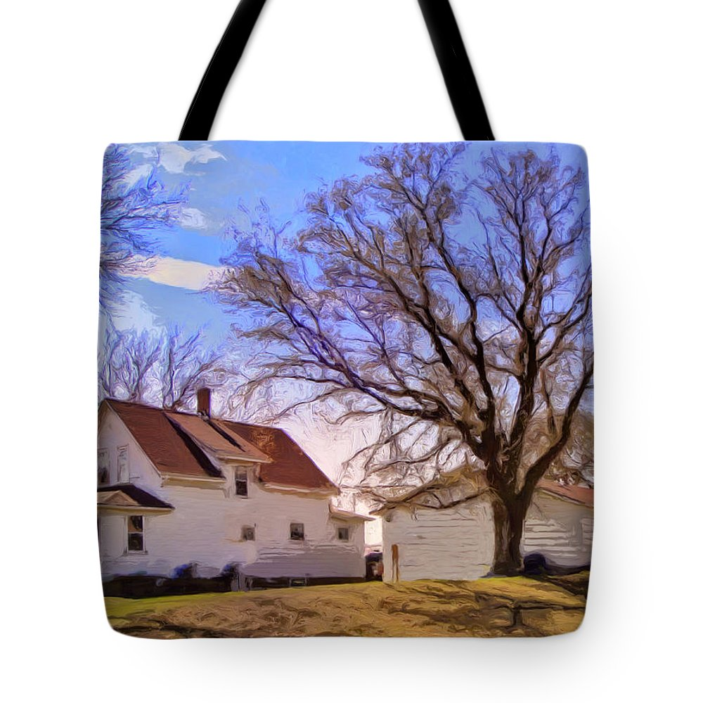 Autumn Day Tote Bag featuring the painting Autumn Day by Dominic Piperata