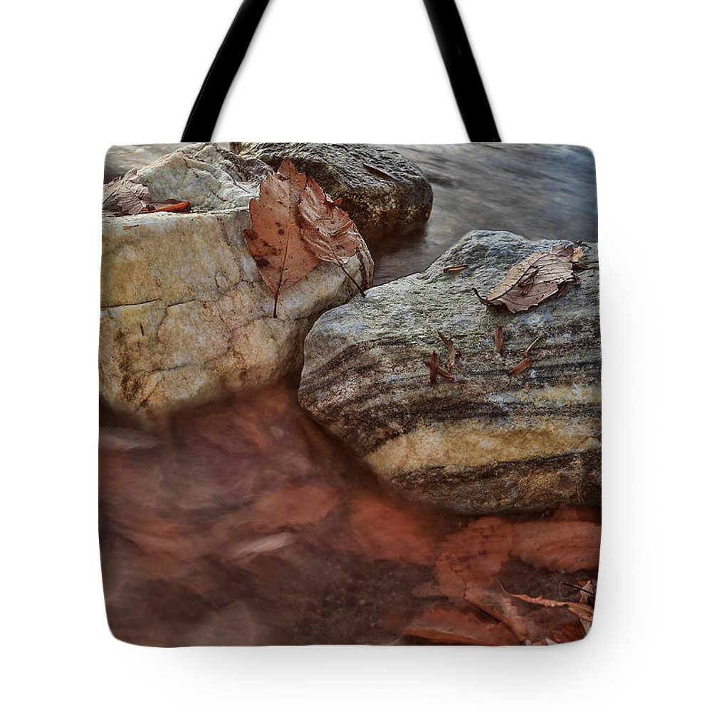 Autumn Tote Bag featuring the photograph Autumn Drift by Jennifer Casey