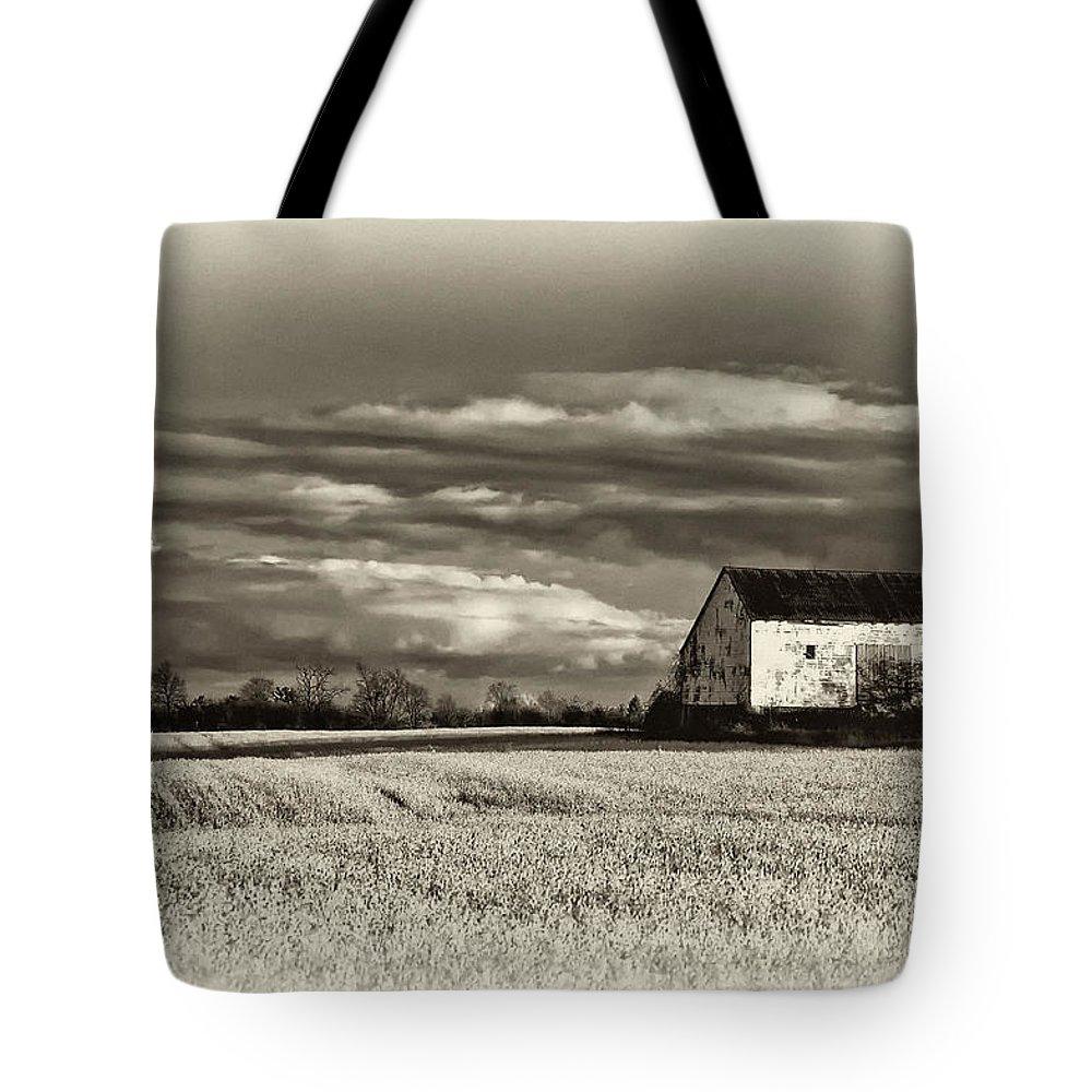 Autumn Tote Bag featuring the photograph Autumn Farm by Steve Harrington