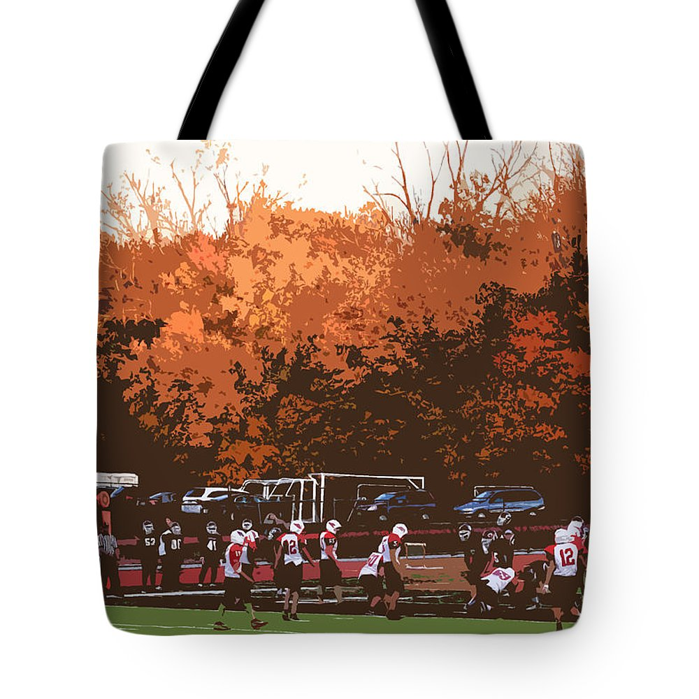 America Tote Bag featuring the photograph Autumn Football With Cutout Effect by Frank Romeo
