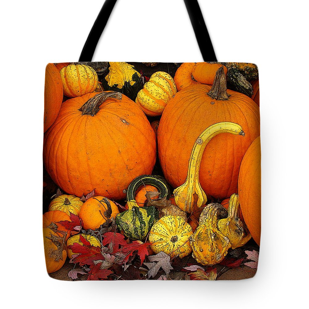 Fine Art Tote Bag featuring the photograph Autumn Harvest 5 by Rodney Lee Williams