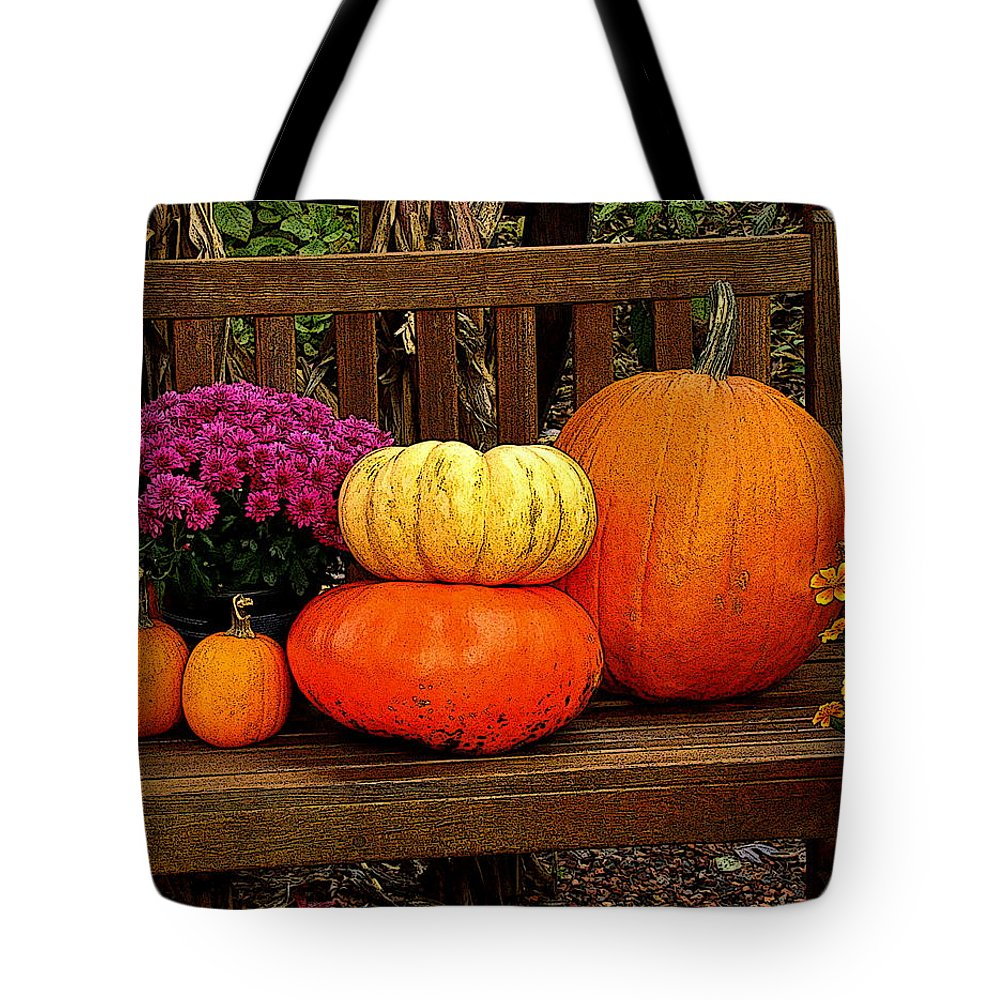 Fine Art Tote Bag featuring the photograph Autumn Harvest by Rodney Lee Williams