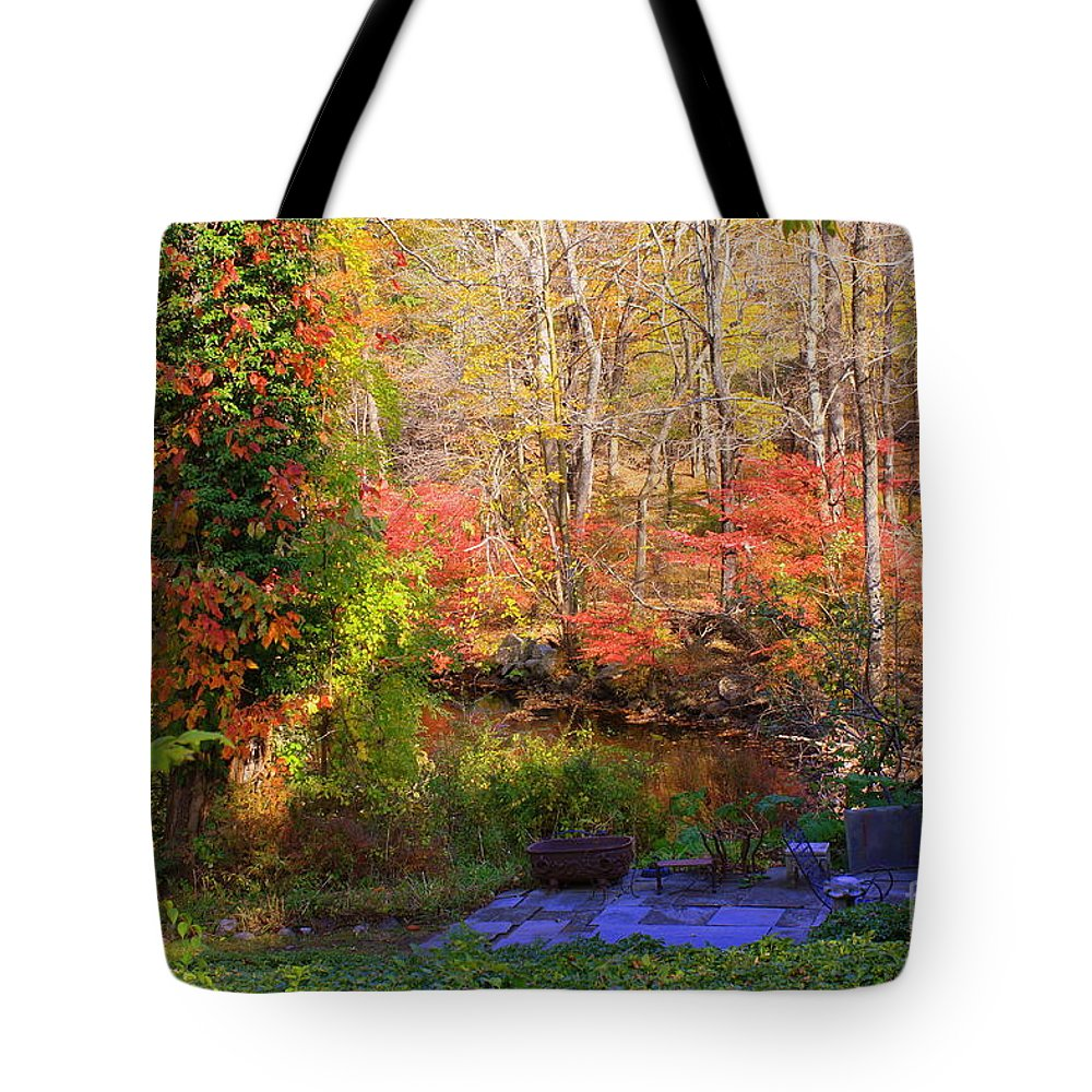Autumn Tote Bag featuring the photograph Autumn In New England by Dora Sofia Caputo Photographic Design and Fine Art