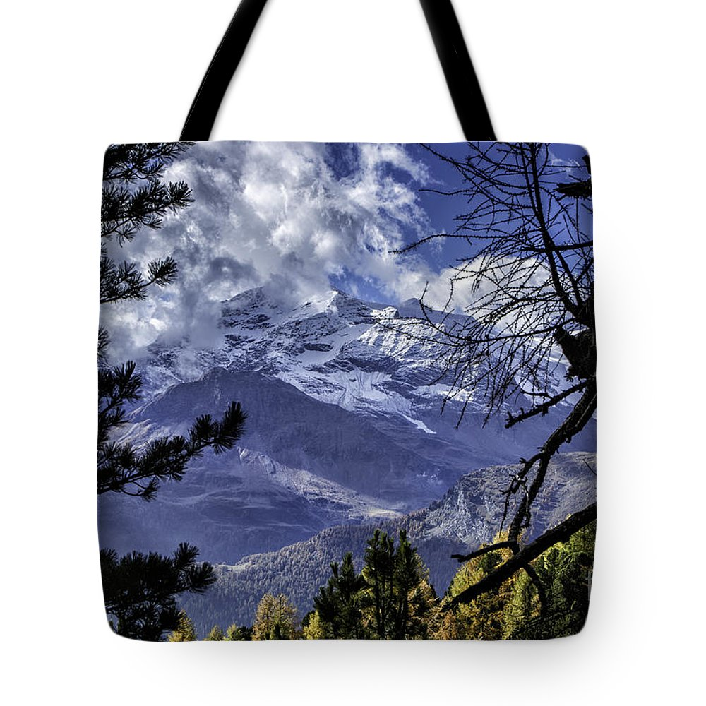 Pontresina Tote Bag featuring the photograph Autumn In The Alps 3 by Timothy Hacker