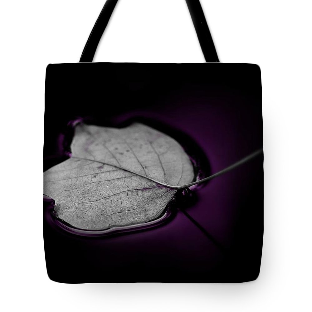 Autumn Leaf Tote Bag featuring the photograph Autumn Leaf by Gabi Siebenhuehner