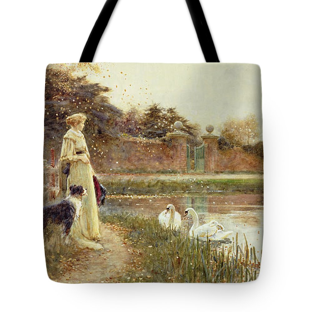Autumnal Tote Bag featuring the painting Autumn Leaves by Thomas James Lloyd