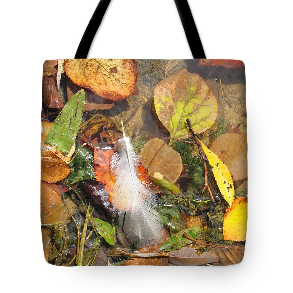 Autumn Tote Bag featuring the photograph Autumn Leavings by Ann Horn