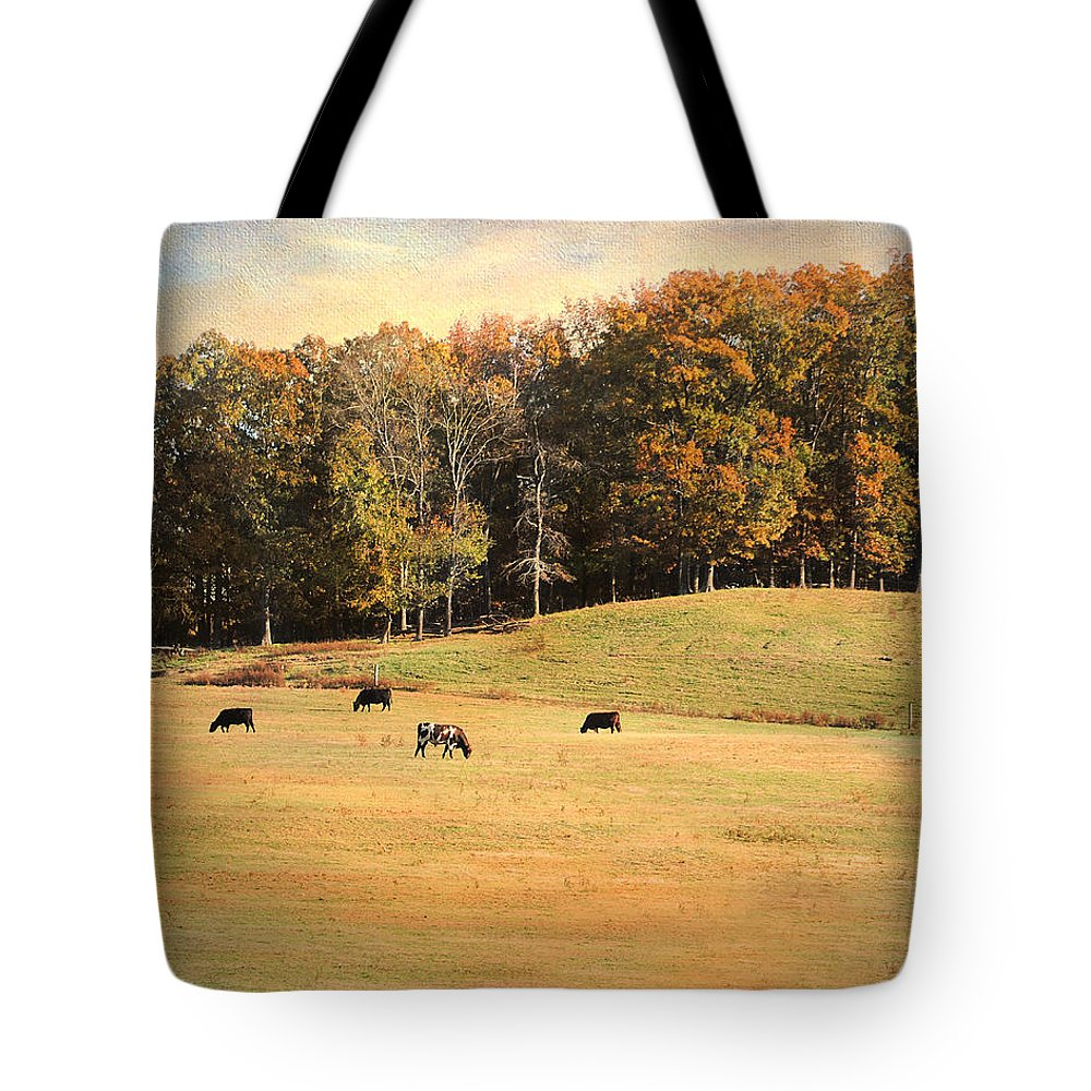 Animals Tote Bag featuring the photograph Autumn On The Farm by Jai Johnson