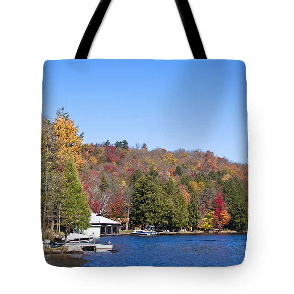 Adirondack's Tote Bag featuring the photograph Autumn On The Fulton Chain Of Lakes In The Adirondacks V by David Patterson