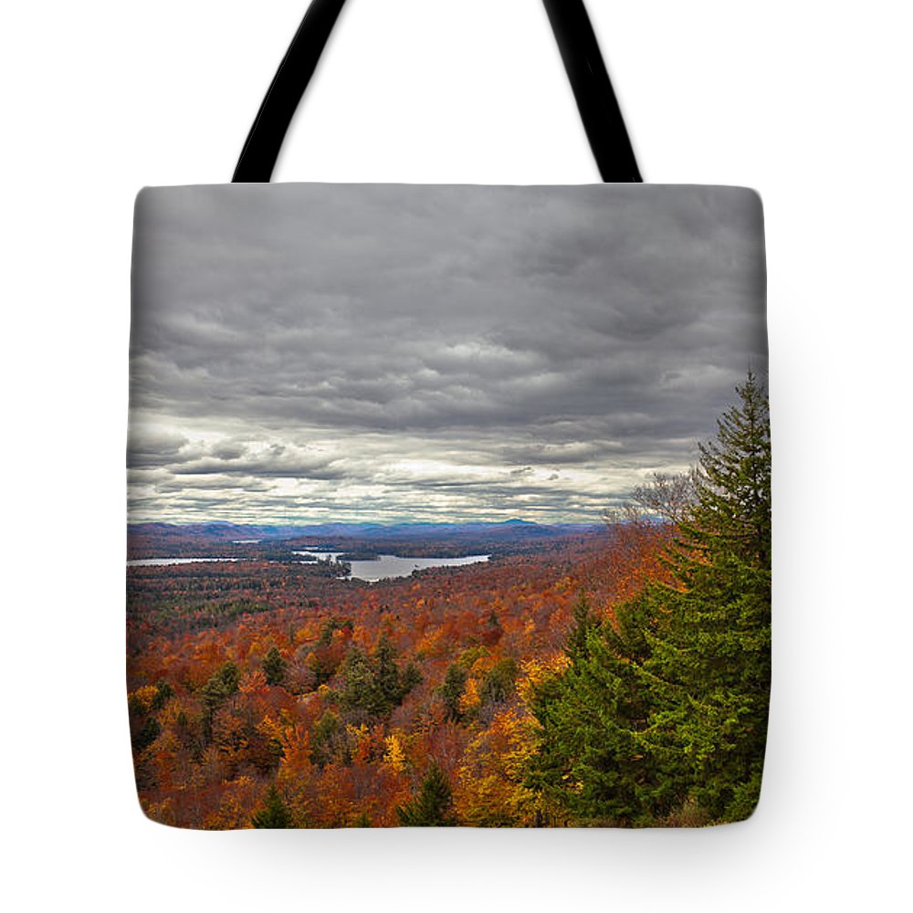 Autumn On Top Of Mccauley Mountain Tote Bag featuring the photograph Autumn On Top Of Mccauley Mountain by David Patterson