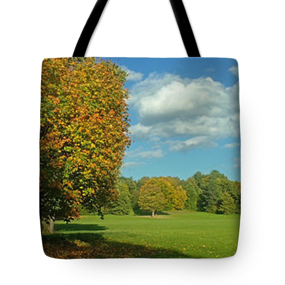 Nature Tote Bag featuring the photograph Autumn Panorama 1 by Rudi Prott