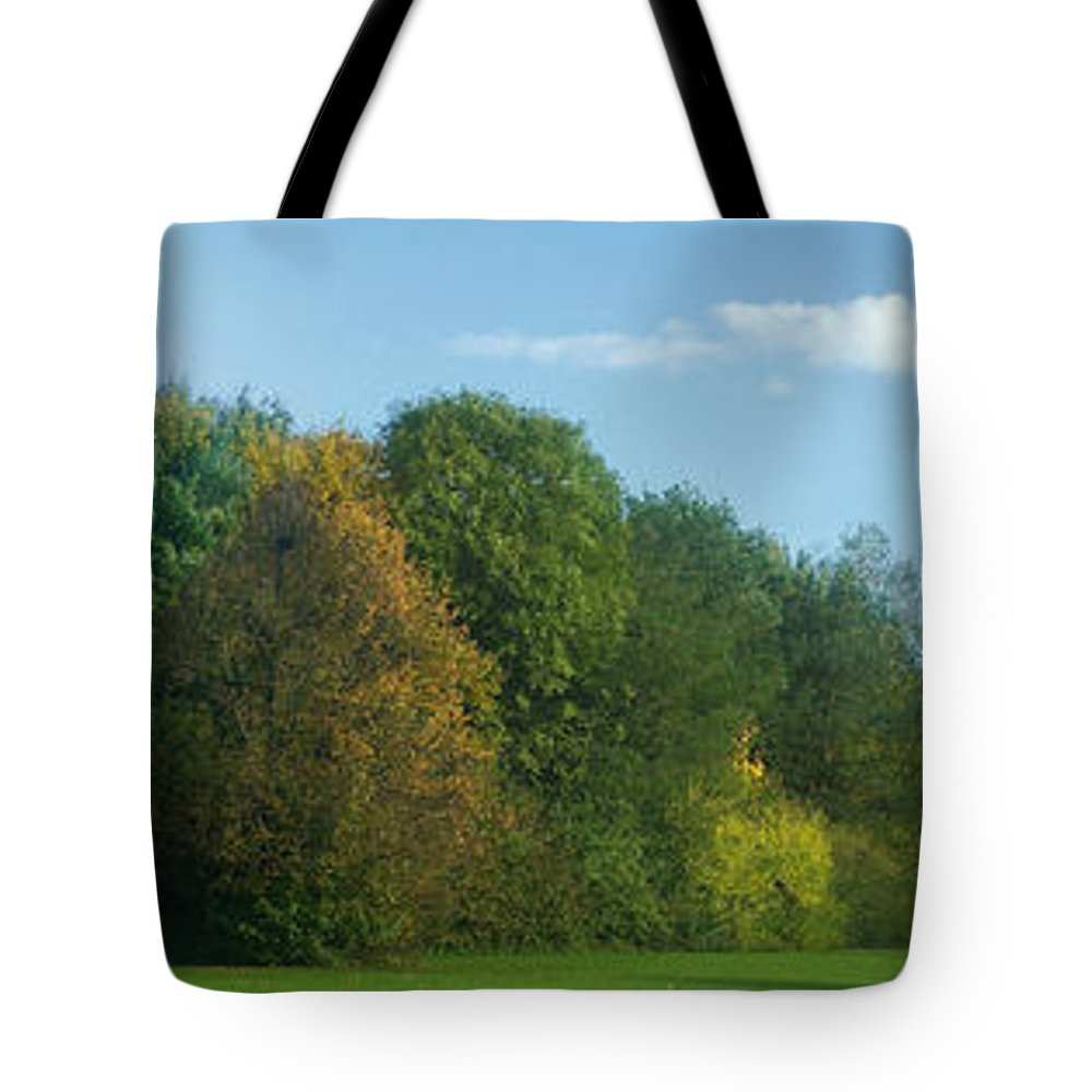 Nature Tote Bag featuring the photograph Autumn Panorama 3 by Rudi Prott