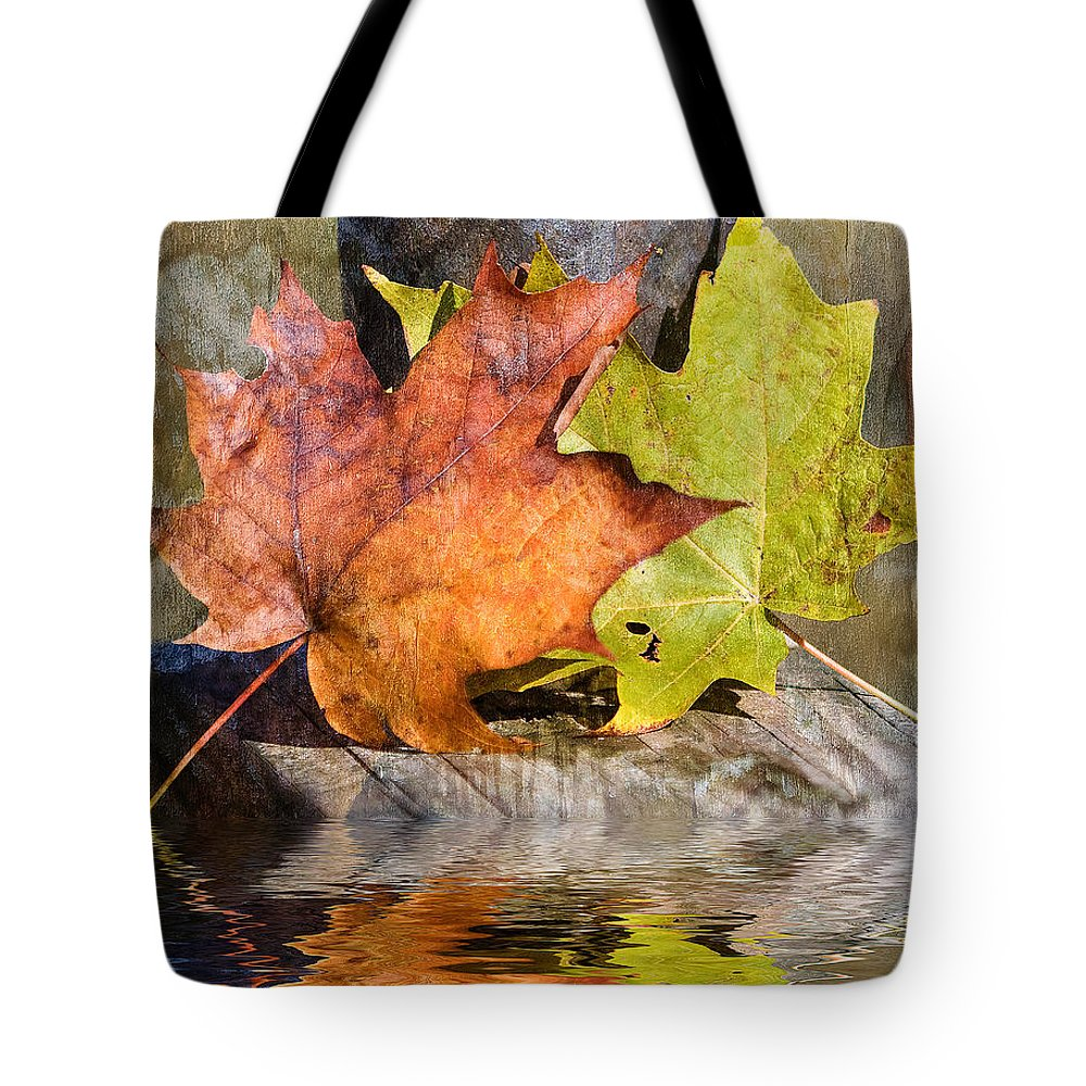 North Carolina Tote Bag featuring the photograph Autumn Reflection by Stephen Warren