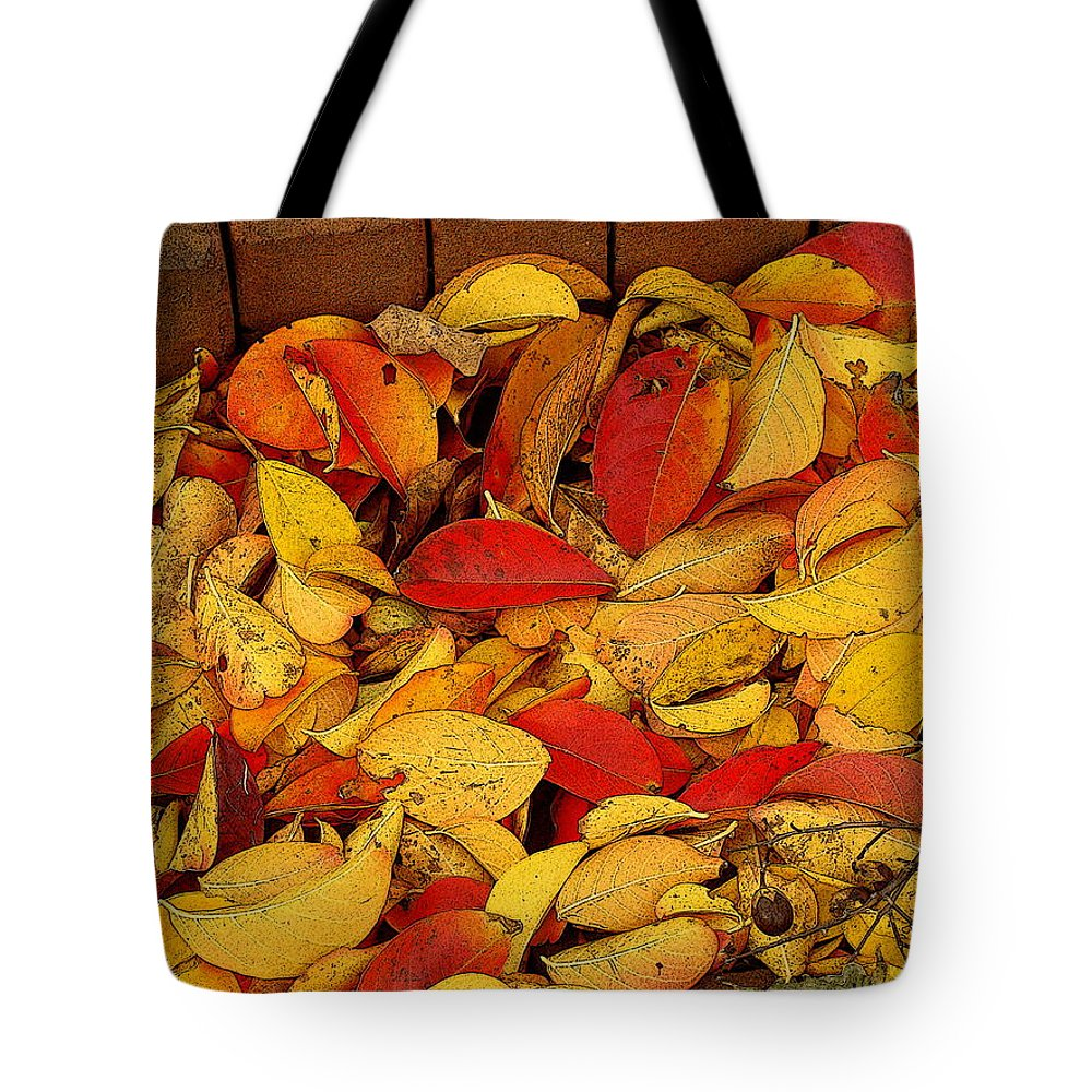 Fine Art Tote Bag featuring the photograph Autumn Remains 2 by Rodney Lee Williams