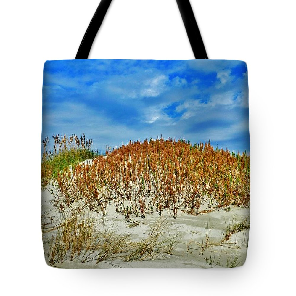 Seascape Tote Bag featuring the photograph Autumn Sand Dunes by Holly Dwyer