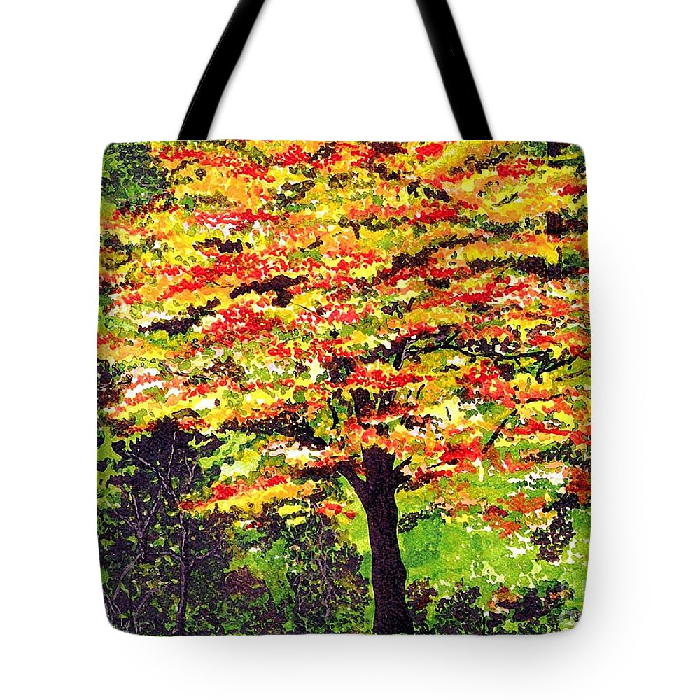 Fine Art Tote Bag featuring the painting Autumn Splendor by Patricia Griffin Brett