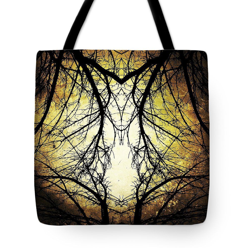 Tree Tote Bag featuring the photograph Autumn Tree Veins by Natasha Marco