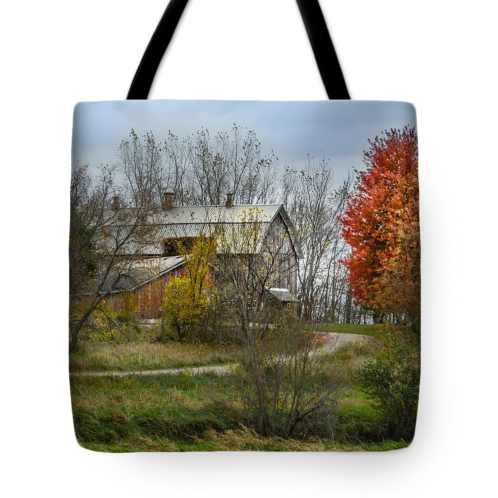 Melinda Martin Tote Bag featuring the photograph Autumn Winding Down by Melinda Martin