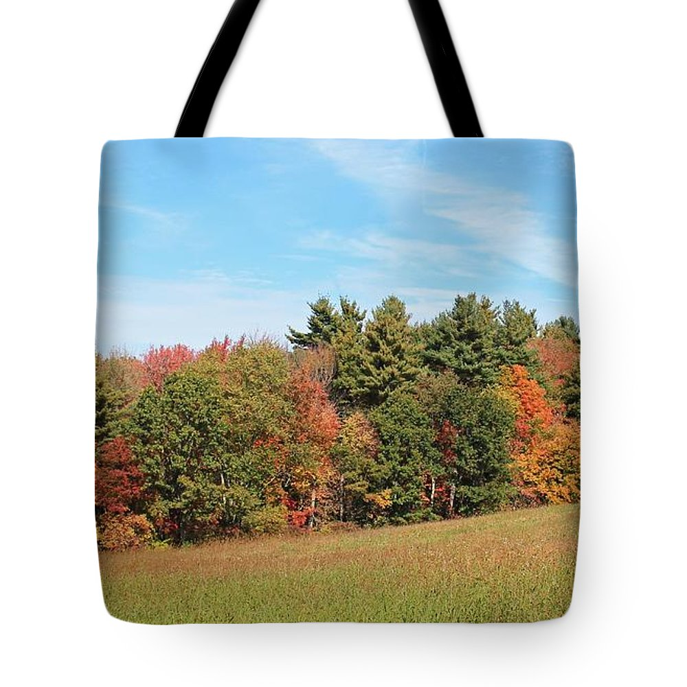 Autumn Tote Bag featuring the photograph Autumnal Wave by Michael Saunders