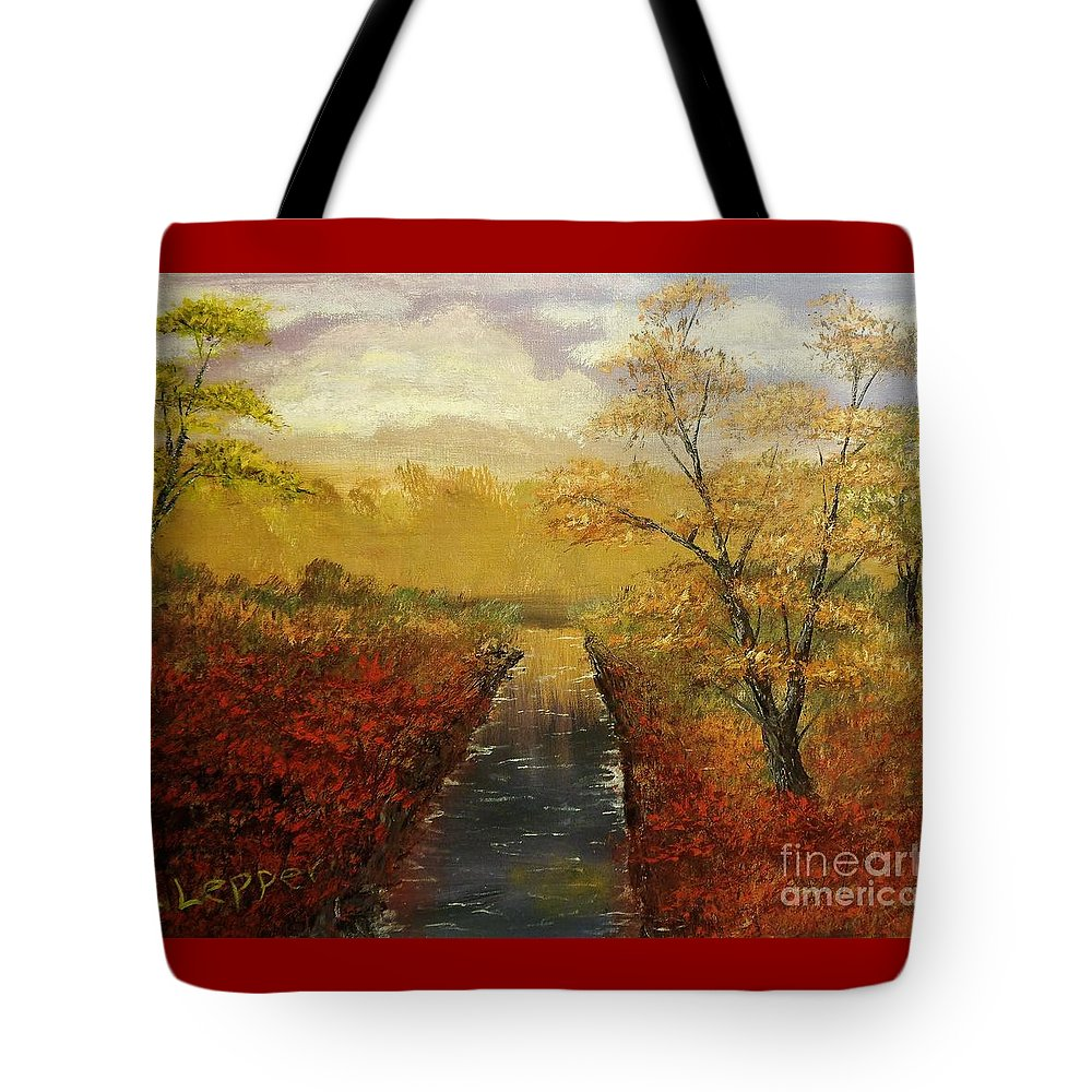 Jack Tote Bag featuring the painting Autumn's Approach by Jack Lepper