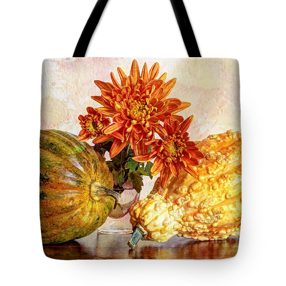 Autumn Tote Bag featuring the photograph Autumn's Charm by Heidi Smith