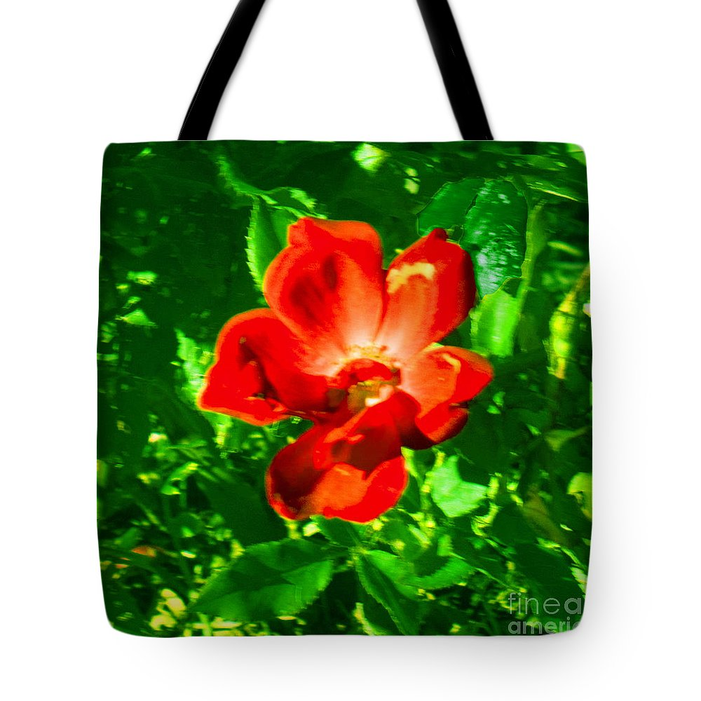 Landscape Tote Bag featuring the photograph Autumn's Flower by Theresa Cummings