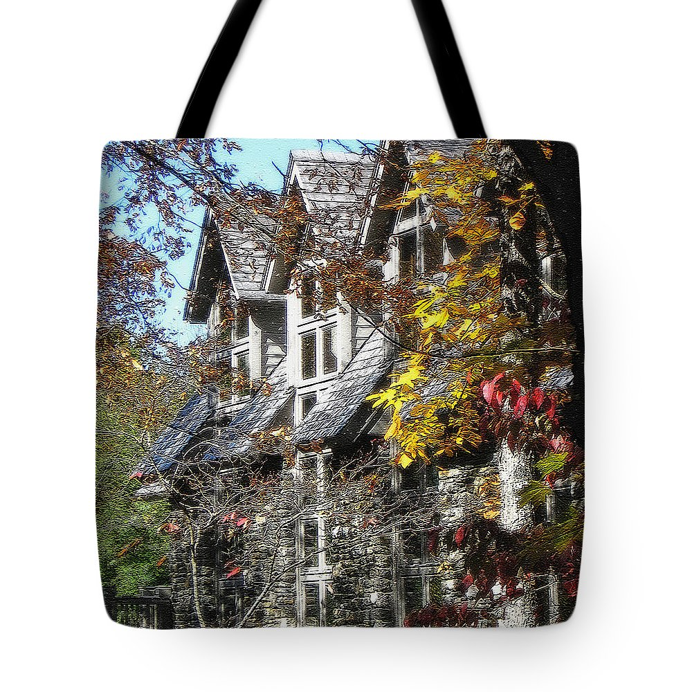 Windows Tote Bag featuring the photograph Autumn's Windows by Lydia Holly