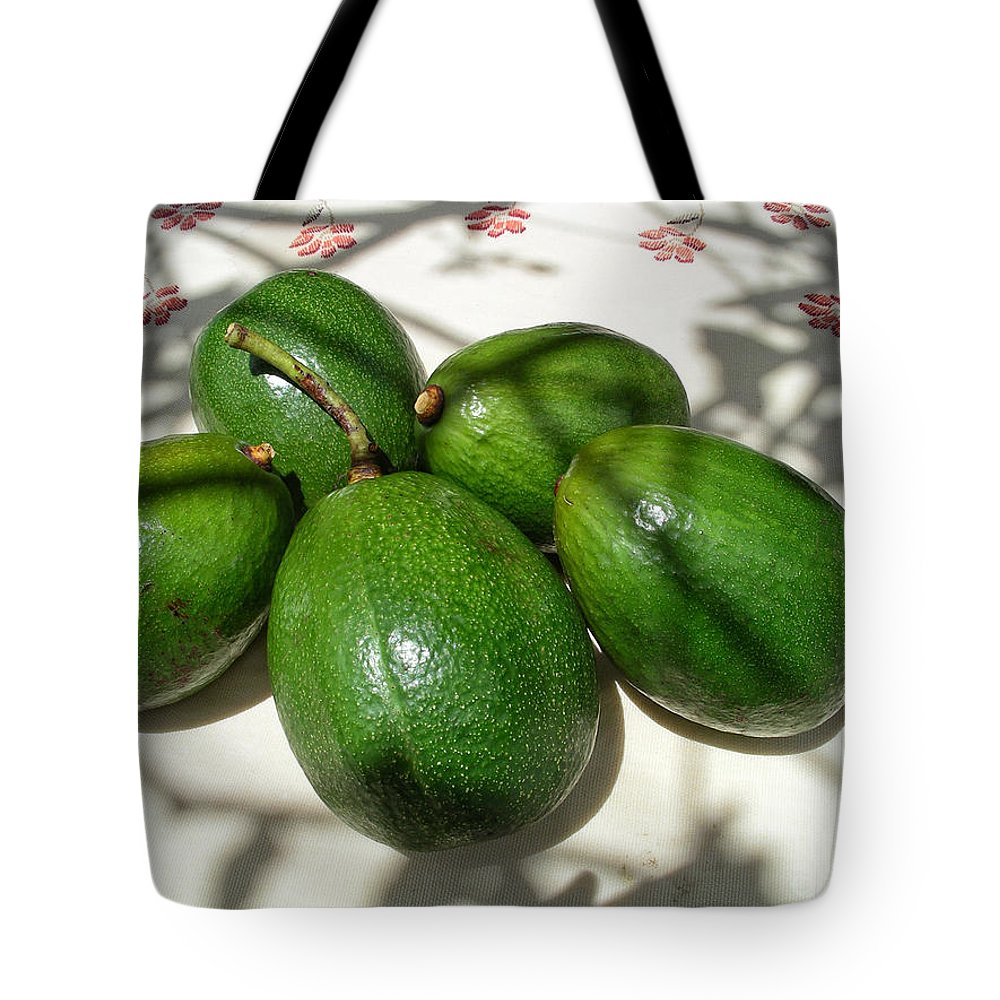 Abadiania Tote Bag featuring the digital art Avacados by Carol Ailles