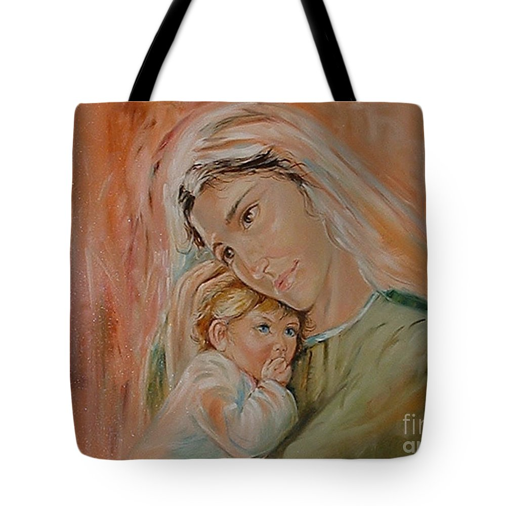 Classic Art Tote Bag featuring the painting Ave Maria by Silvana Abel