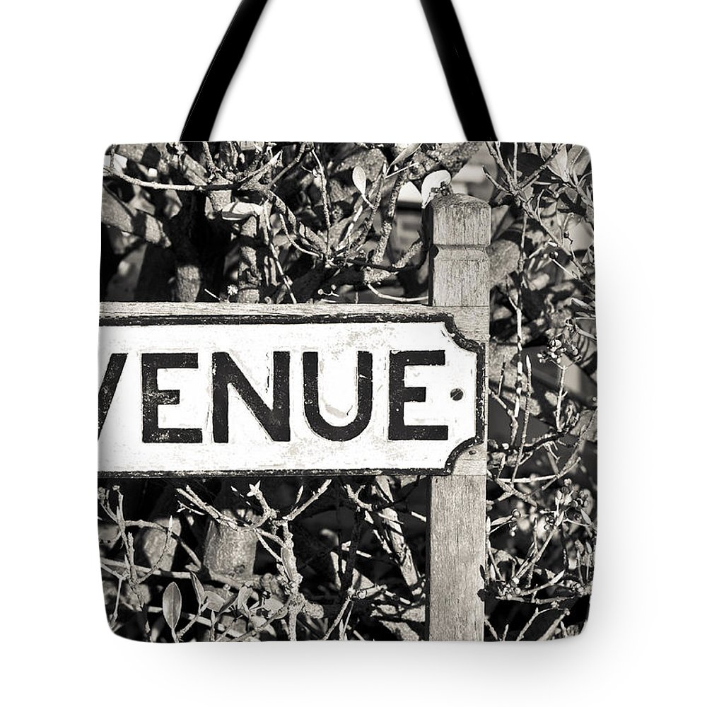 Address Tote Bag featuring the photograph Avenue Sign by Tom Gowanlock