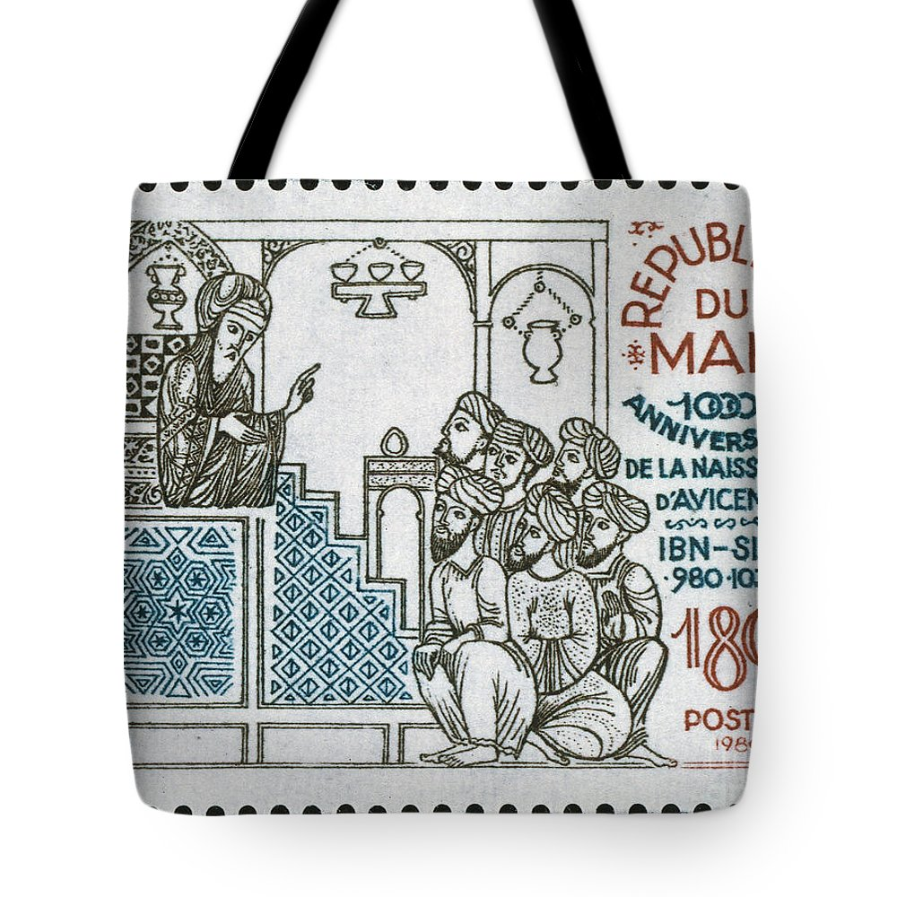 10th Century Tote Bag featuring the photograph Avicenna, (ibn-sina) by Granger