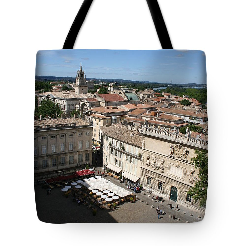 Palace Tote Bag featuring the photograph Avigon Square by Christiane Schulze Art And Photography