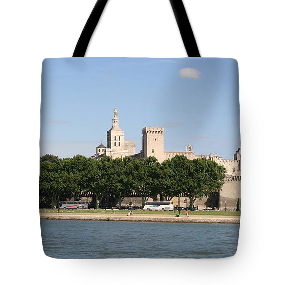 City Tote Bag featuring the photograph Avigon View From River Rhone by Christiane Schulze Art And Photography