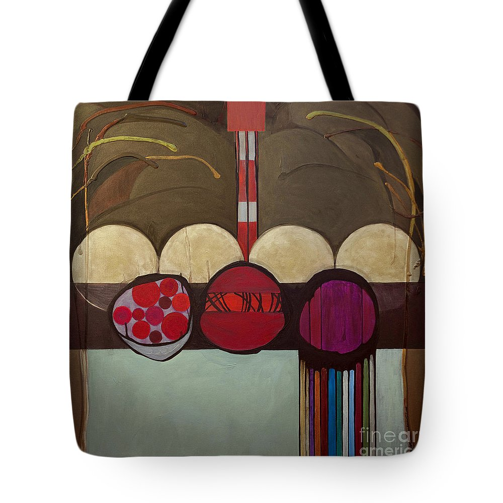 Jewish Tote Bag featuring the painting Avot V'imahot by Marlene Burns